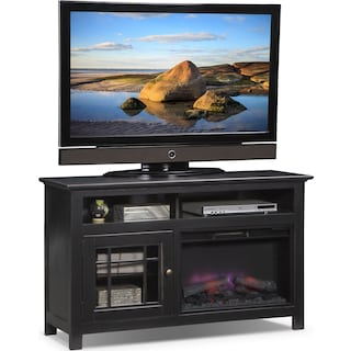 "Merrick 54"" Fireplace TV Stand with Traditional Insert - Black"