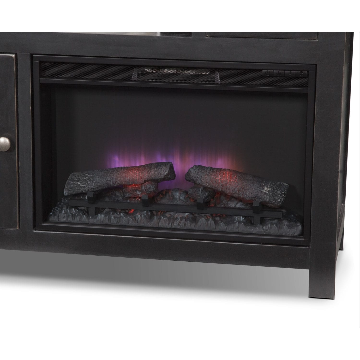 merrick 64 fireplace tv stand with traditional insert