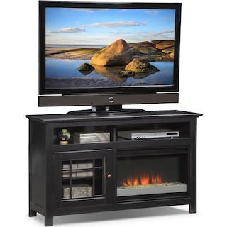 "Merrick 54"" Fireplace TV Stand with Contemporary Insert - Black"