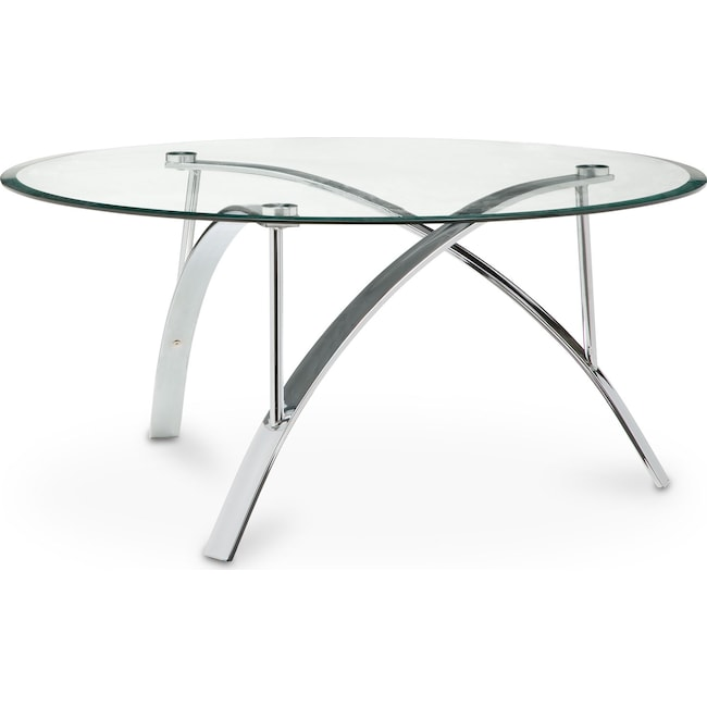 Accent and Occasional Furniture - Mako Cocktail Table - Silver