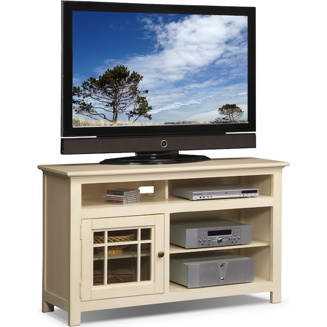 "Entertainment Furniture - Merrick 54"" TV Stand - White"