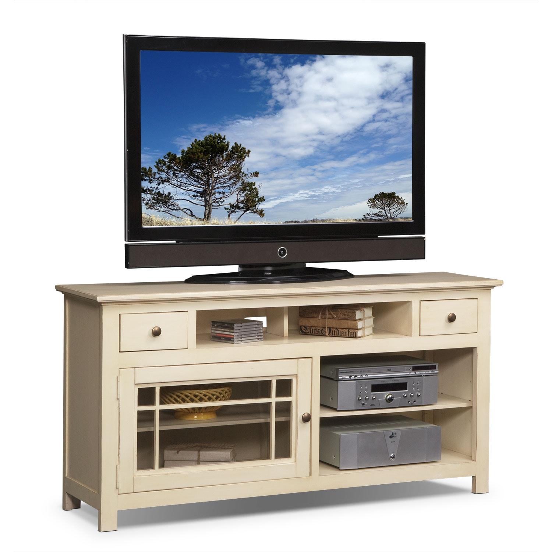 "Entertainment Furniture - Merrick 64"" TV Stand - White"