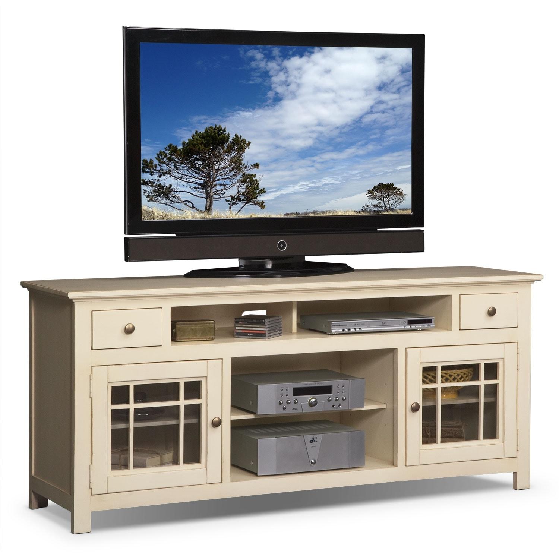 """Merrick 74"""" TV Stand - White"""