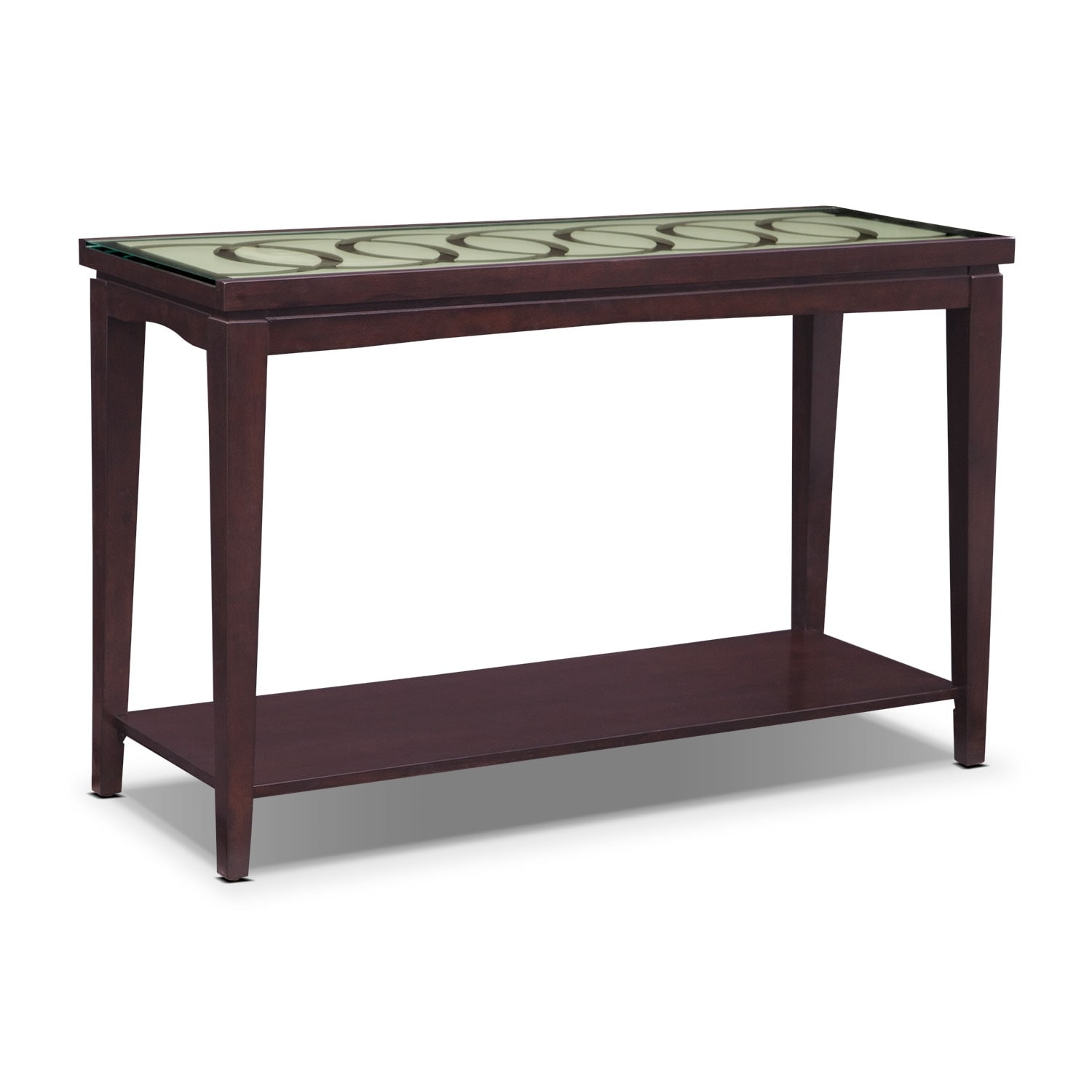 Accent and Occasional Furniture - Cosmo Sofa Table - Merlot