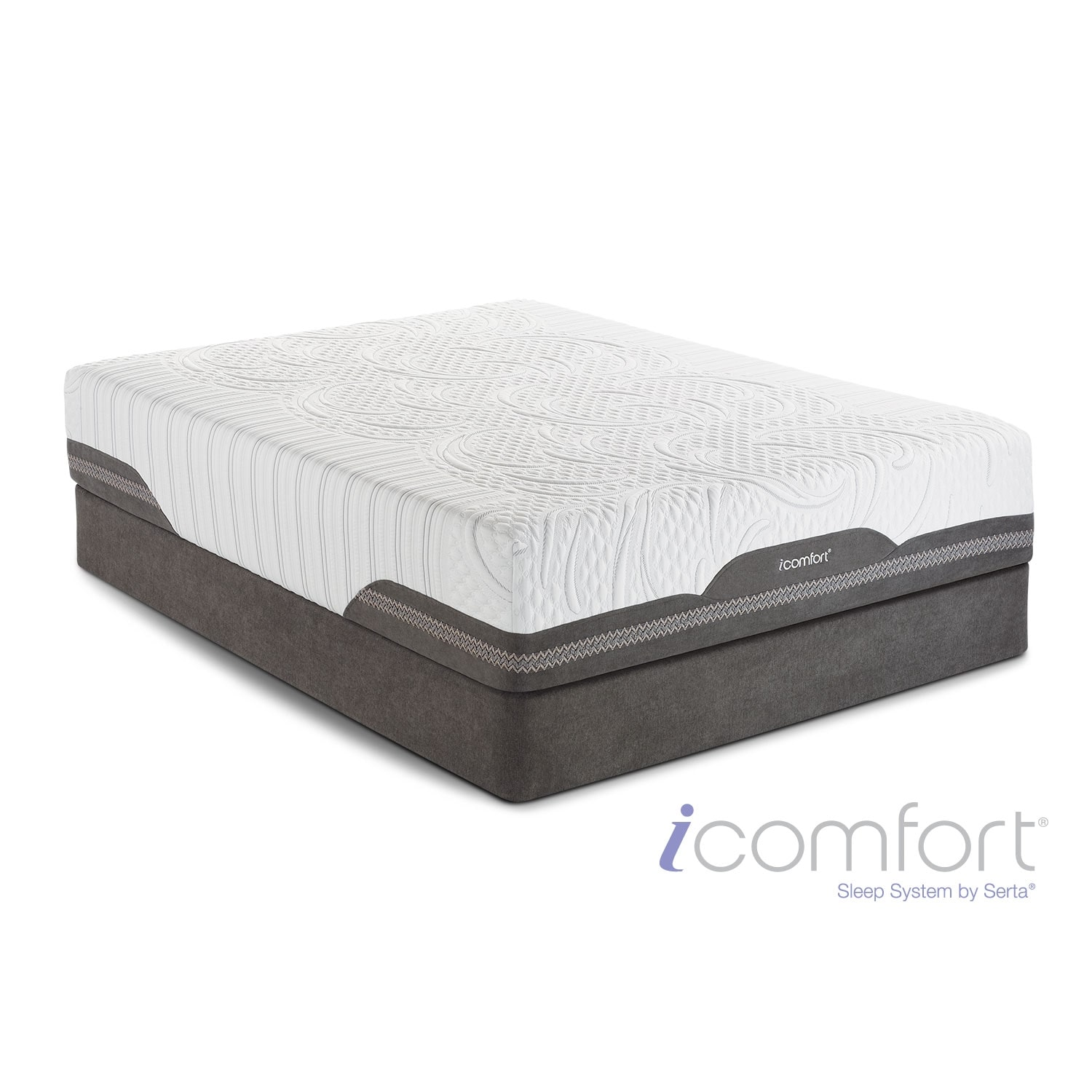 [Vivacious Plush Full Mattress/Foundation Set]