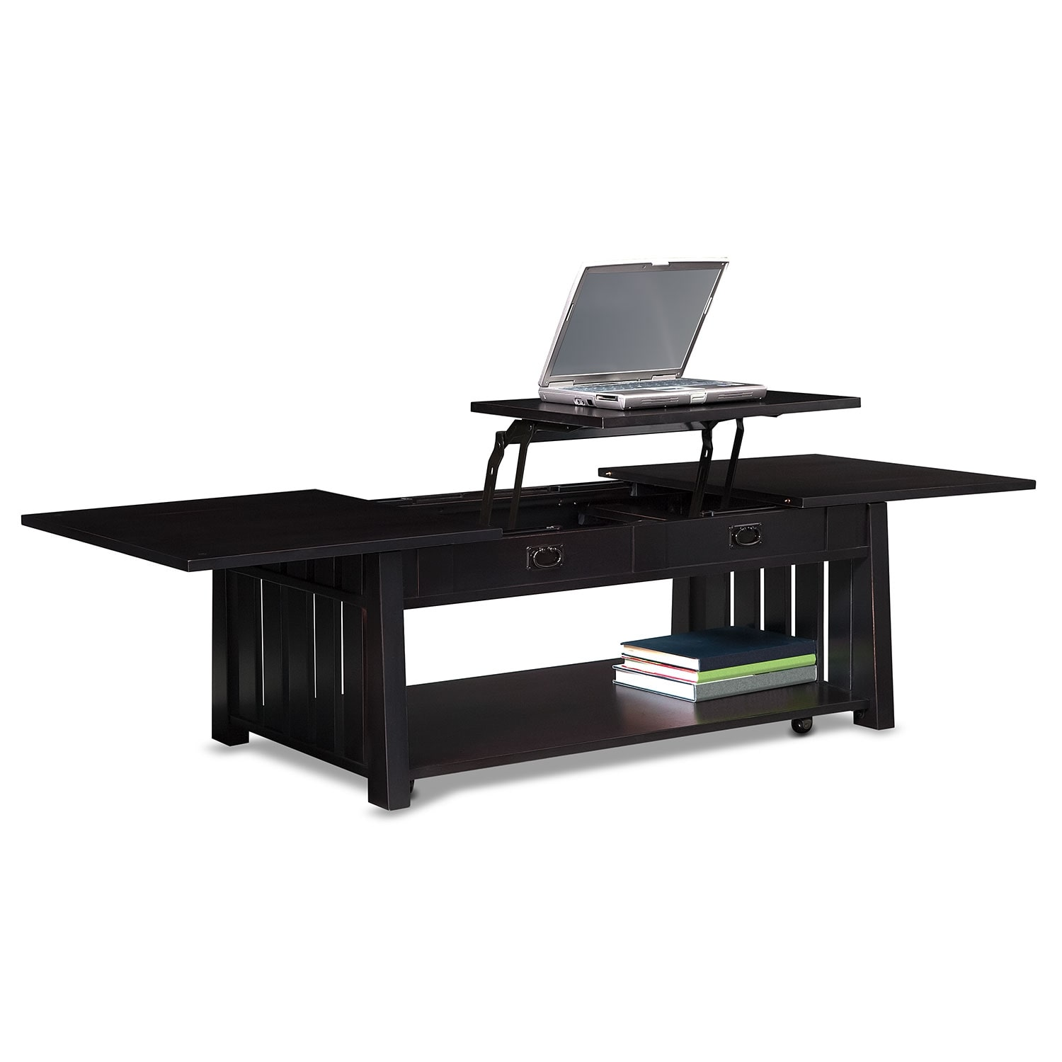 Tribute Lift Top Cocktail Table Black