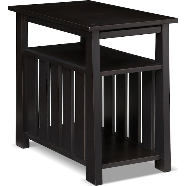 Accent and Occasional Furniture - Tribute Chairside Table - Black
