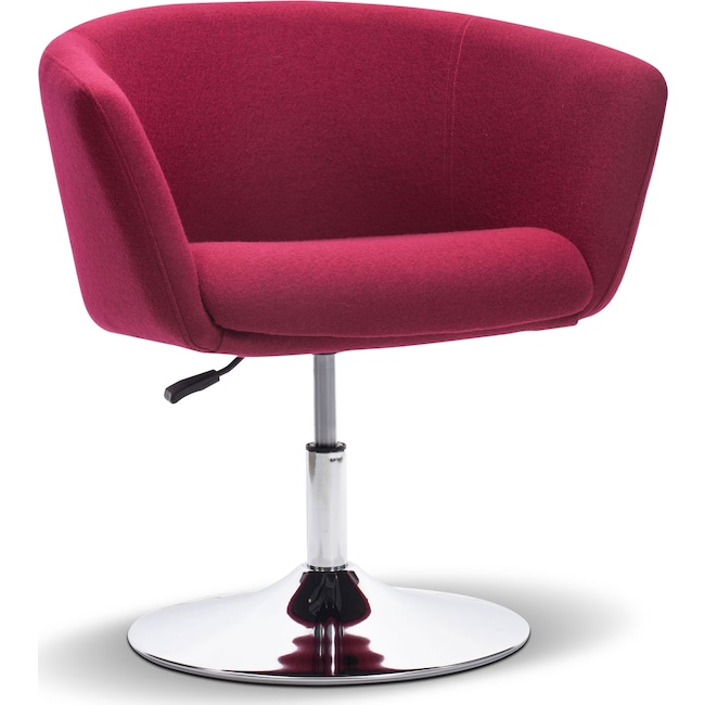 Living Room Furniture - Marseille Swivel Chair - Red