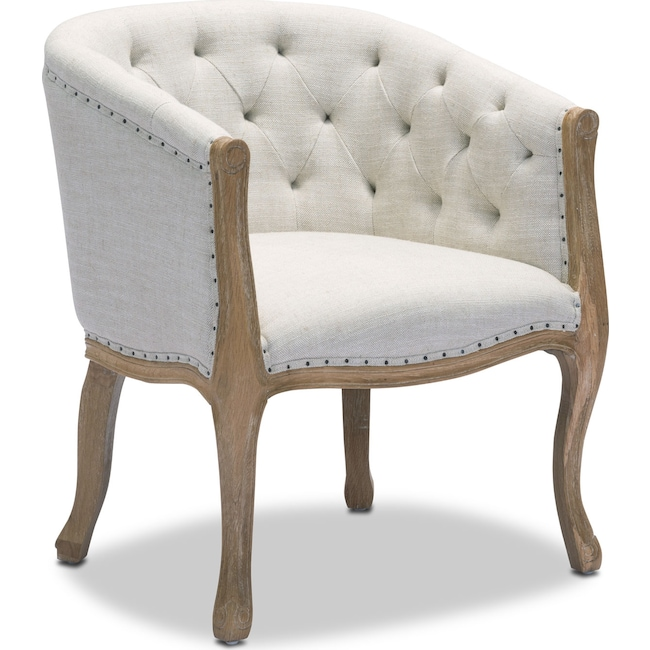 Living Room Furniture - Tess Accent Chair - Beige
