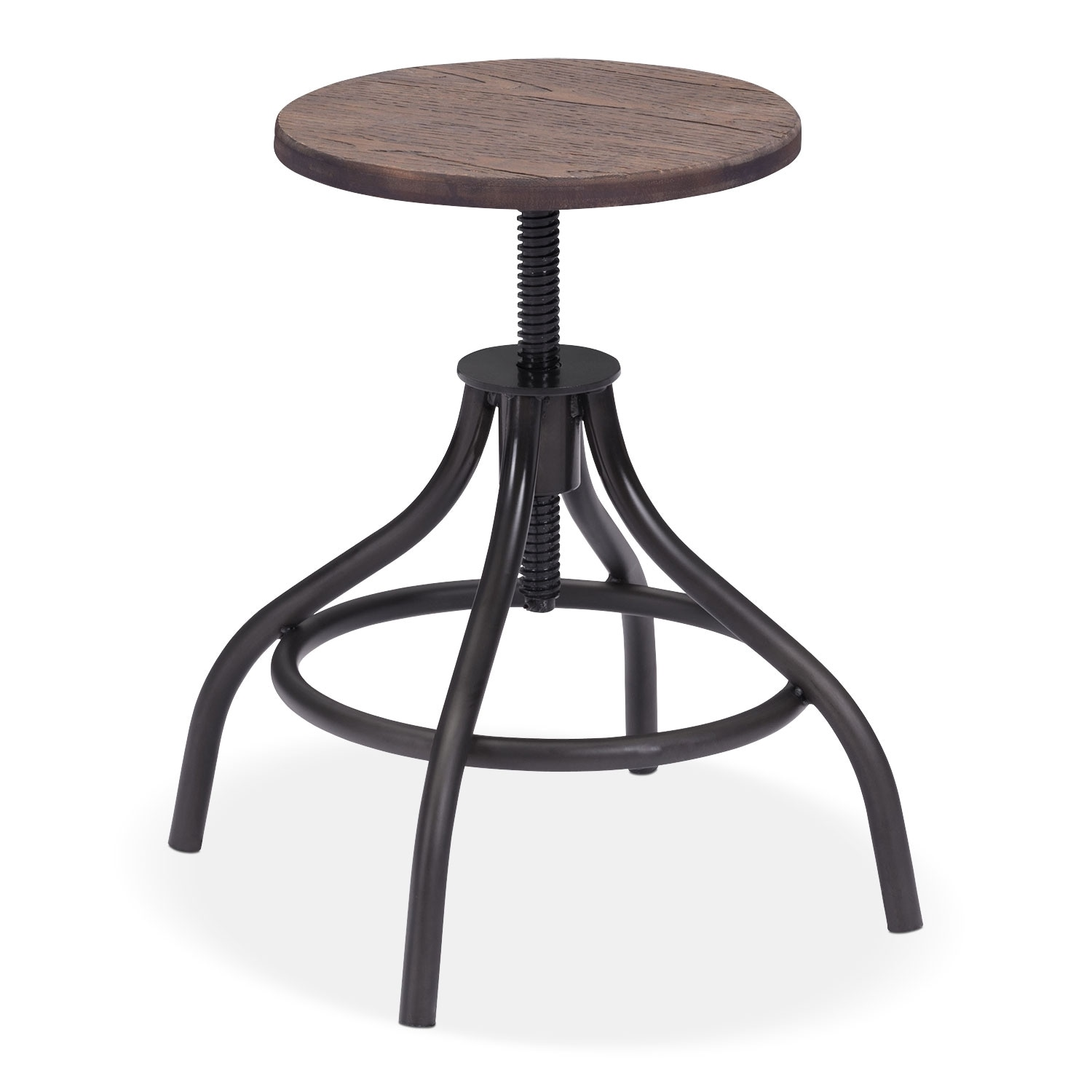 Accent and Occasional Furniture - Turner Adjustable Stool - Black