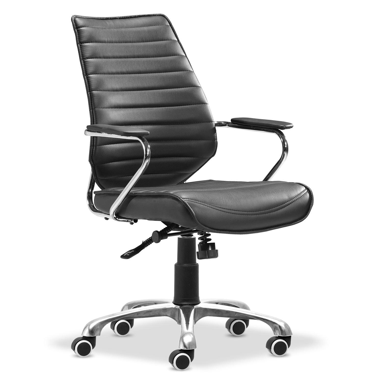 Graham Office Arm Chair - Black