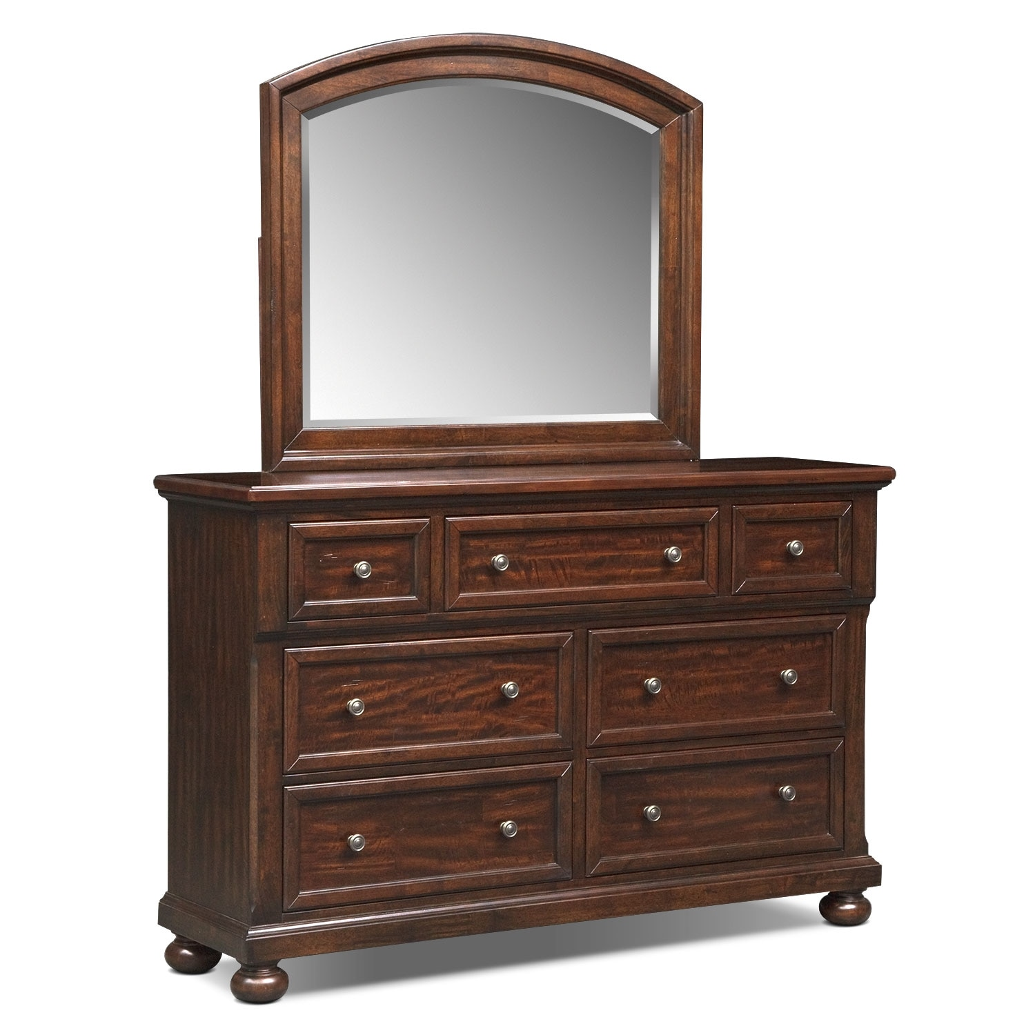 Bedroom Furniture - Hanover Dresser and Mirror - Cherry