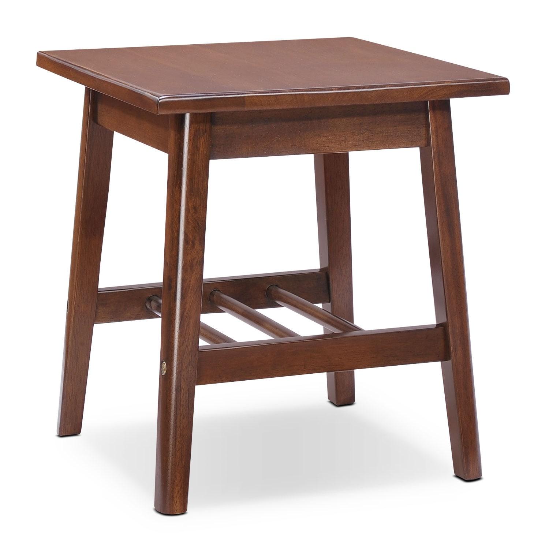 Loft End Table - Walnut