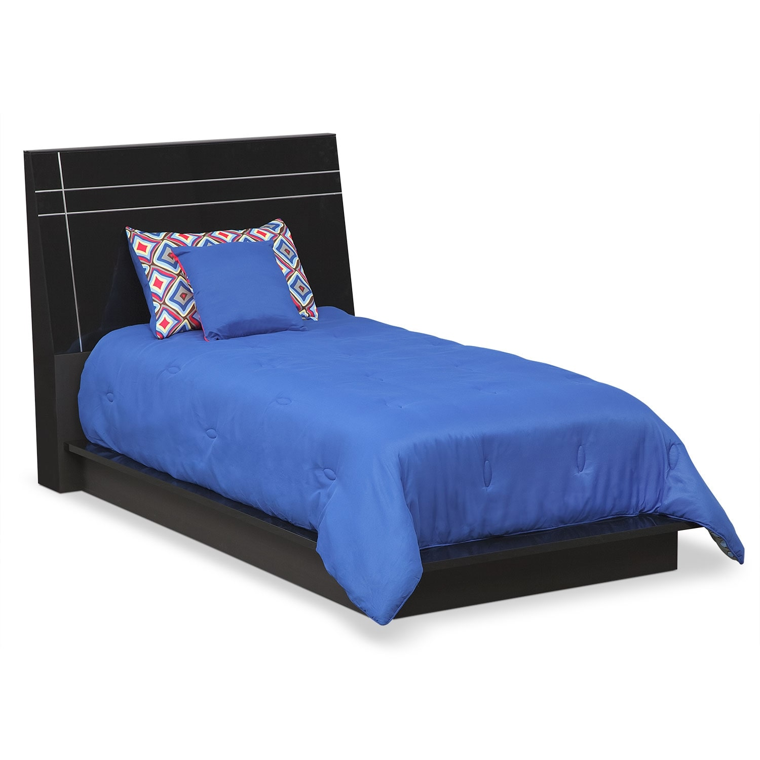 Bedroom Furniture - Dimora Twin Panel Bed - Black