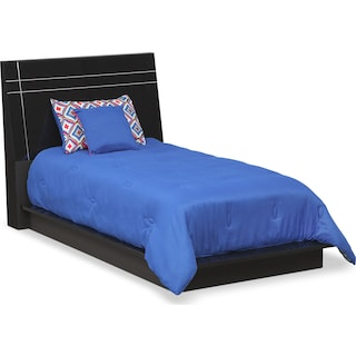 Dimora Twin Panel Bed - Black