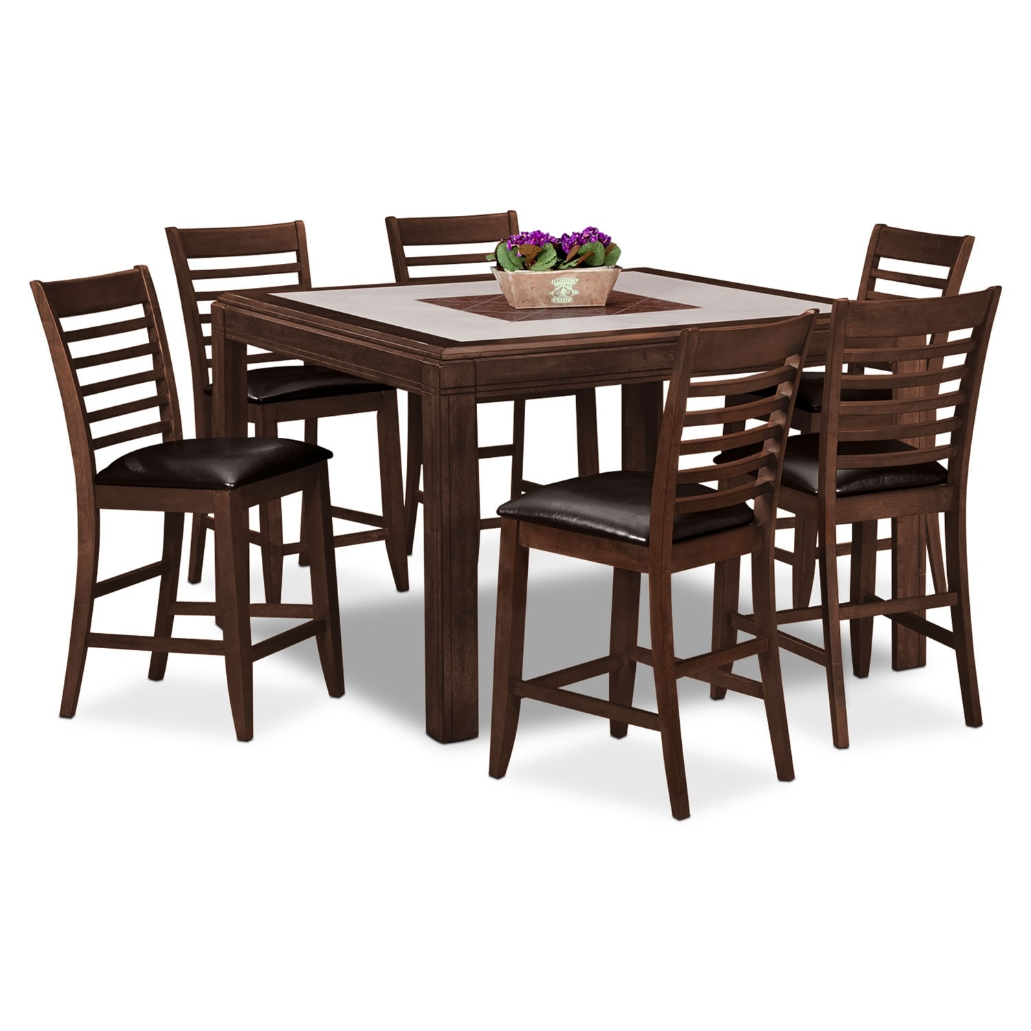 Dining Room Furniture - Deer Creek II 7 Pc. Counter-Height Dinette