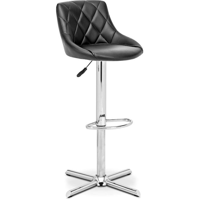 Dining Room Furniture - Caymen Adjustable Barstool - Chrome