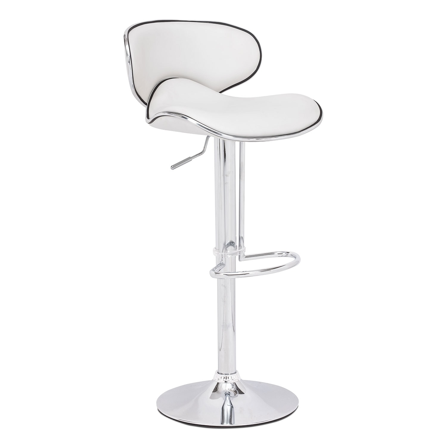 Connor Adjustable Barstool - White