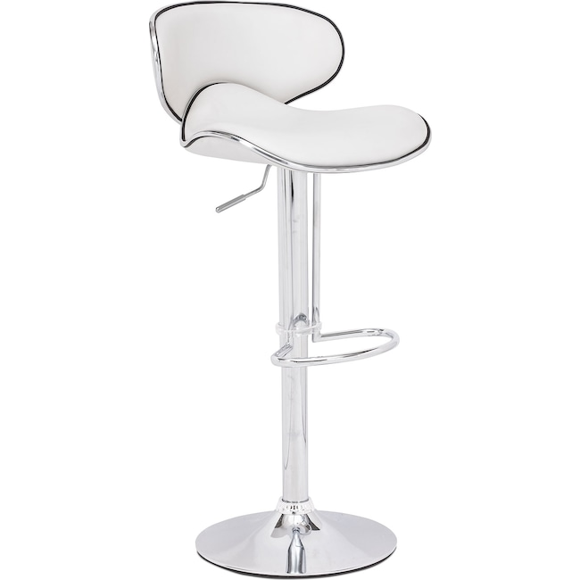 Dining Room Furniture - Connor Adjustable Barstool - White