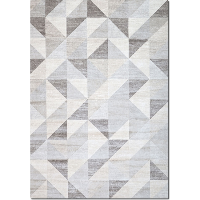 Rugs - Sonoma 5' x 8' Area Rug - Gray Triangles