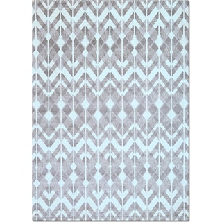 Sonoma Gray Diamonds Area Rug (5' x 8')