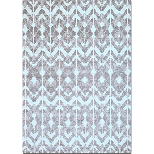 Rugs - Sonoma 5' x 8' Area Rug - Gray Diamonds
