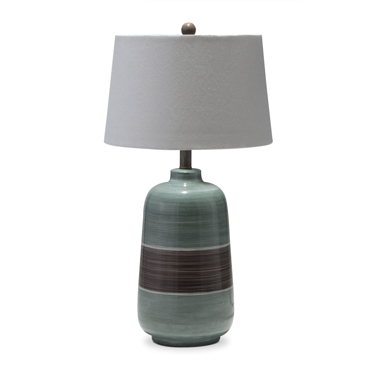 [Blue Brown Table Lamp]