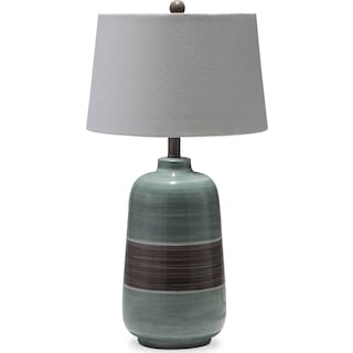 Blue Brown Table Lamp