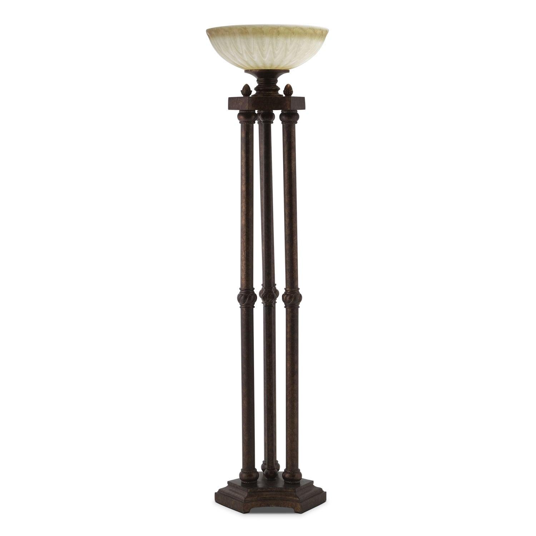 regal antique lighting floor lamp - value city furniture