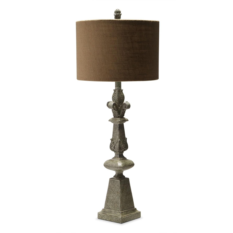 [Carved Granite Table Lamp]