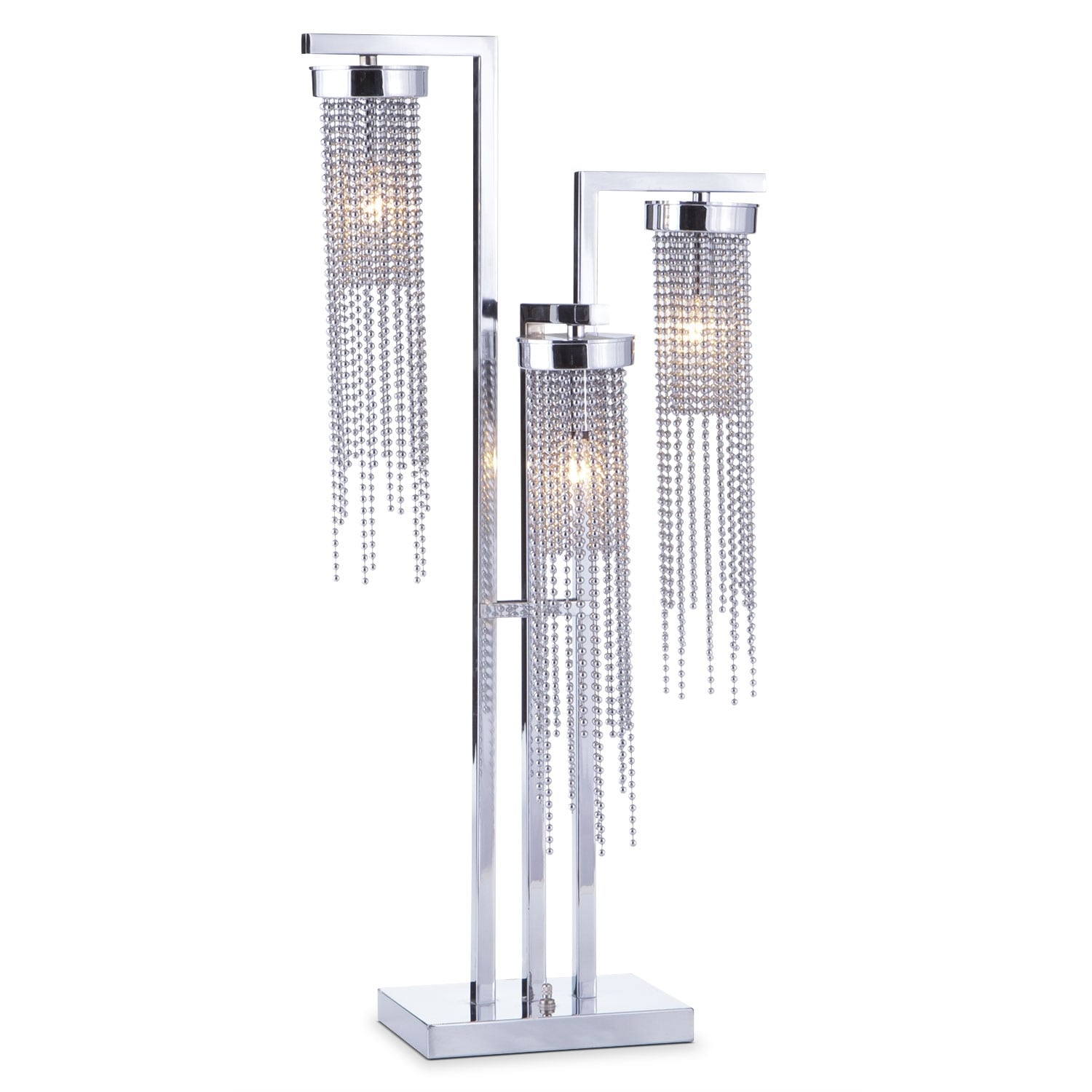 Hanging Table Lamp: Hanging Beads Table Lamp