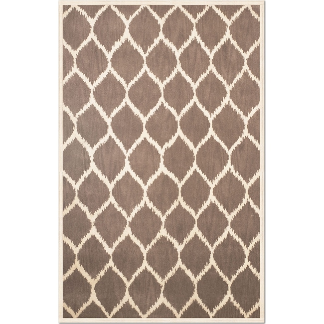 Rugs - Lifestyle Kimble 5' x 8' Area Rug - Brown and Cream