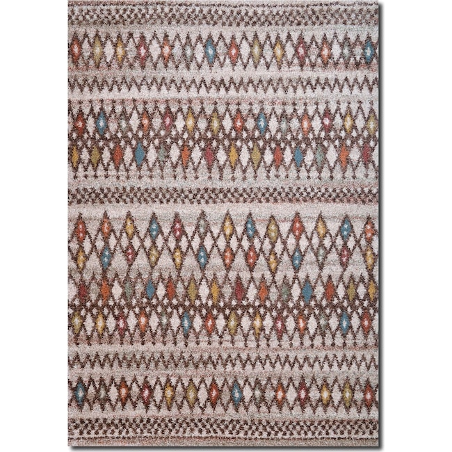 Rugs - Granada 5' x 8' Area Rug - Triangles
