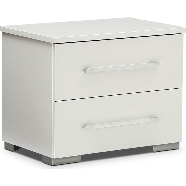 dimora nightstand - white | value city furniture