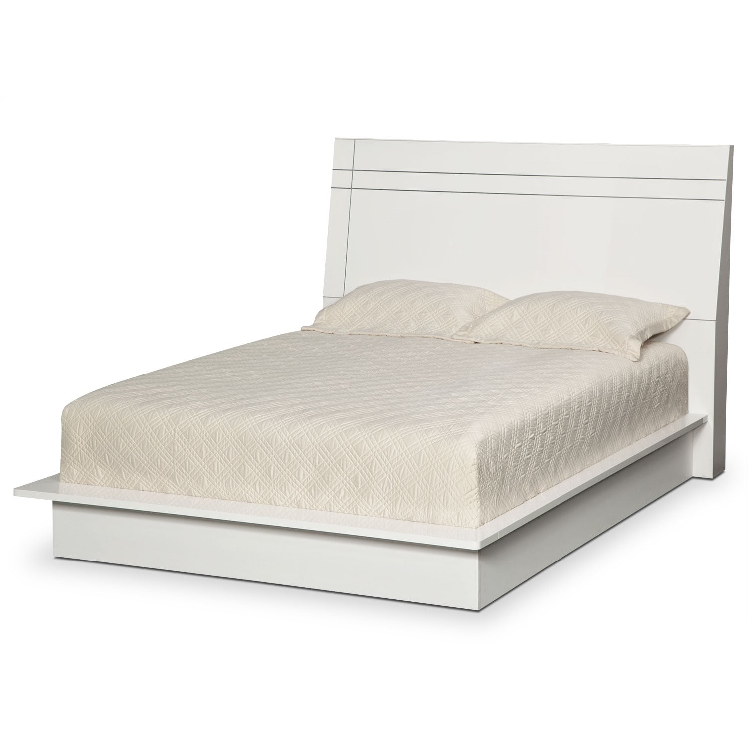 dimora queen panel bed white value city furniture