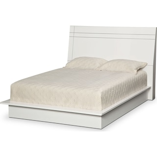 Dimora King Panel Bed - White