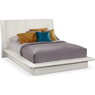 Dimora Queen Upholstered Bed - White