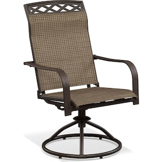 Terrace Swivel Rocker - Brown