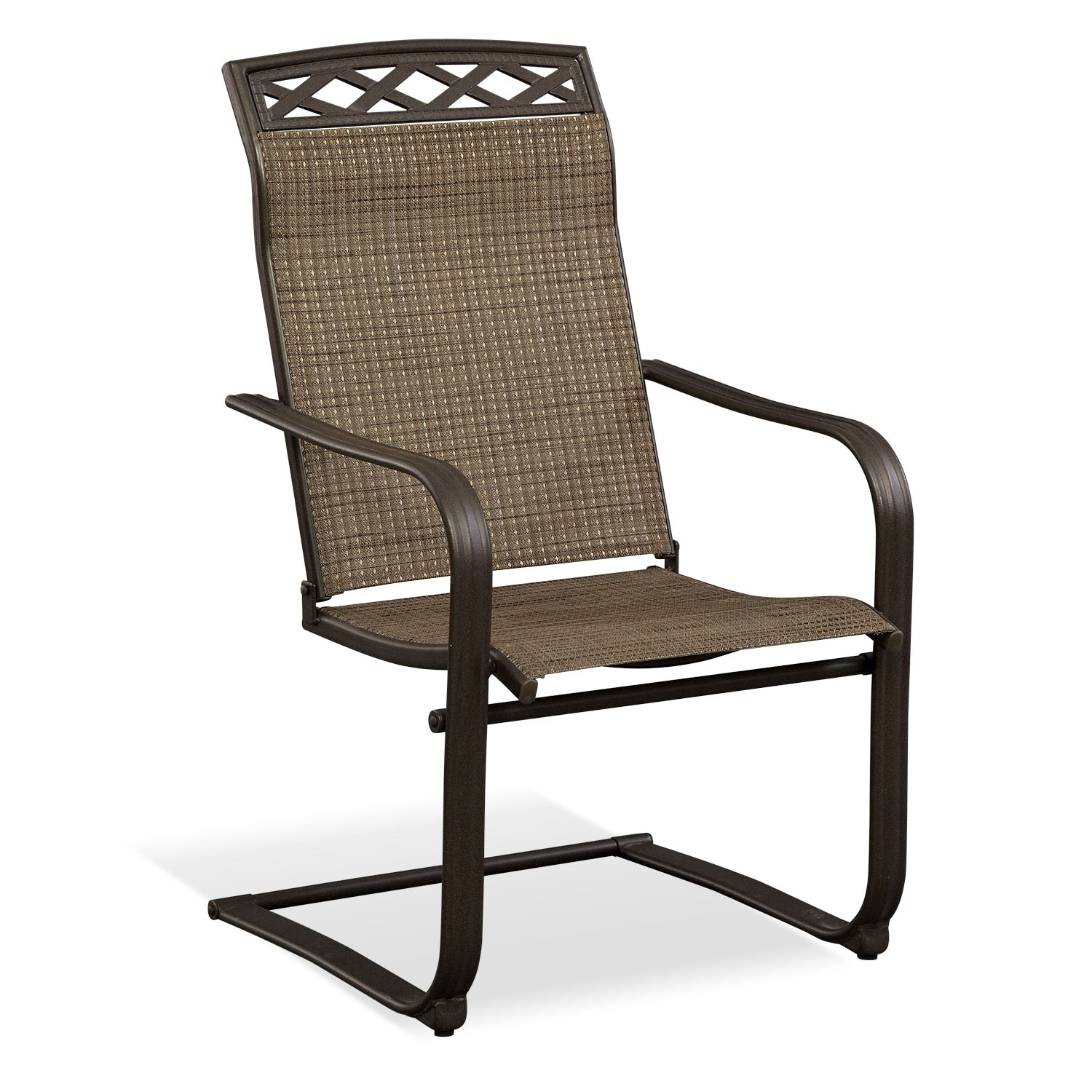 Terrace Spring Chair - Brown