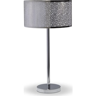 Silver Circles Table Lamp