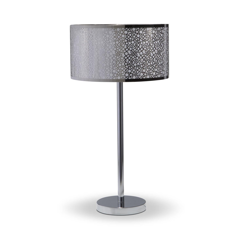 Silver Circles Table Lamp