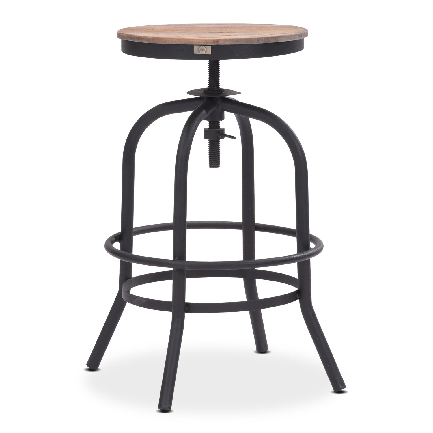 Elston Adjustable Backless Counter-Height Stool - Antiqued Black
