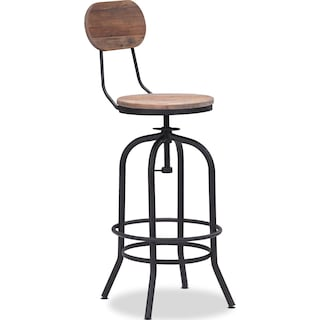 Elston Adjustable Barstool - Antiqued Black