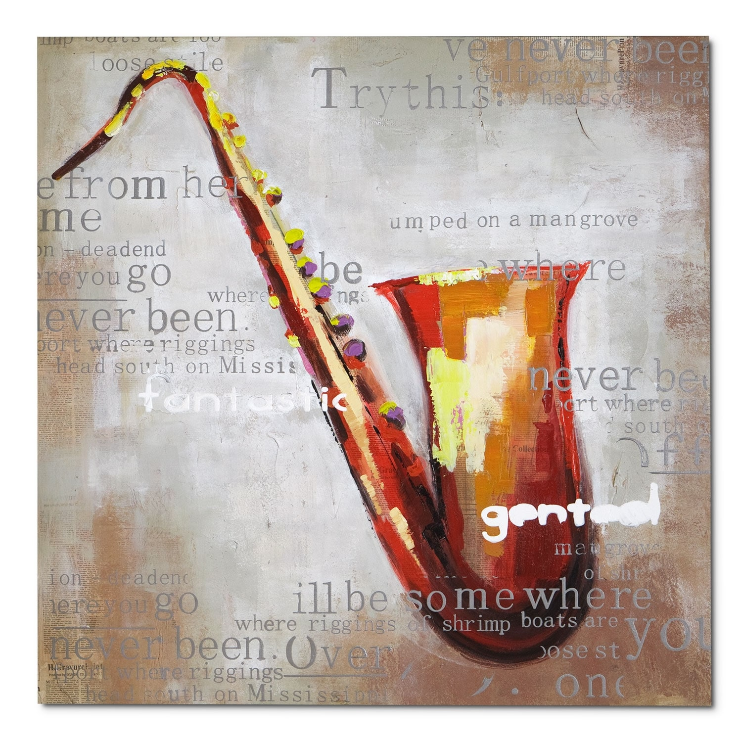 Home Accessories - Saxophone Canvas Print