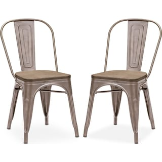 Rustica 2-Pack Chairs - Steel