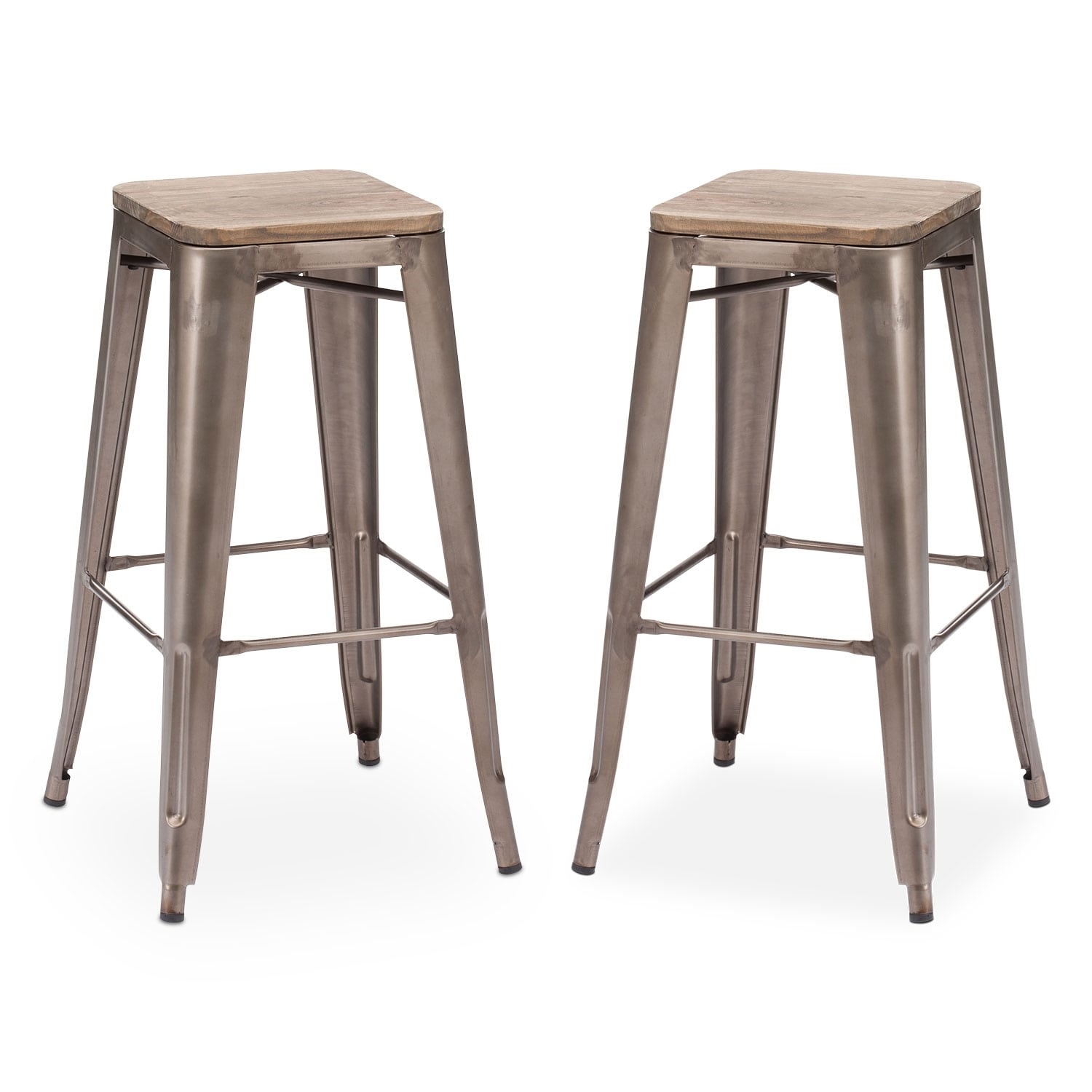 Dining Room Furniture - Rustica 2-Pack Barstools