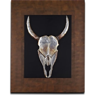 Animal Skull Mixed Media Painting