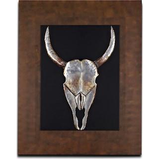 Animal Skull Mixed Media Painting