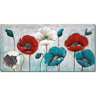 Blue Poppy Canvas Print