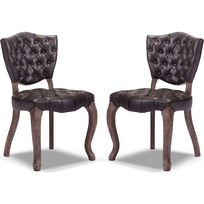Accent and Occasional Furniture - Shield 2-Pack Chairs - Brown